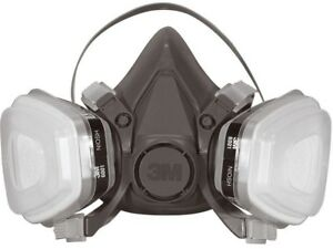 Dusk Mask Respirator Half Face Large Paint Project Replaceable Cartridge 4 case