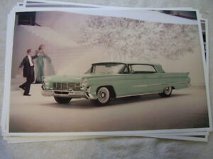 1958 Lincoln In Color 11 X 17 Photo Picture