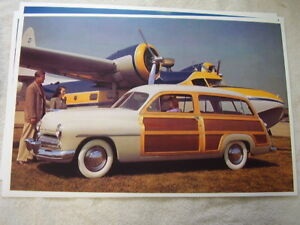 1949 Mercury Woody Station Wagon In Color 11 X 17 Photo Picture
