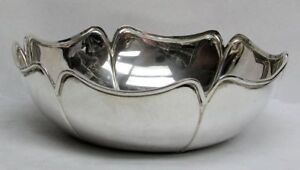 Vintage Sterling Silver 9 Center Piece Fruit Bowl