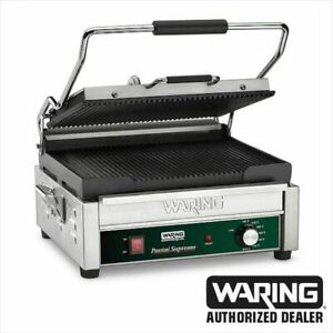 Waring Wpg250b Commercial Large Italian Style Panini Grill 208v 1 Year Warranty