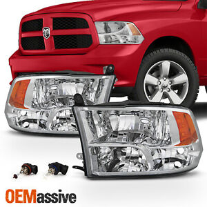 Fits 2009 2018 Dodge Ram 1500 2010 2018 2500 3500 Quad Style Headlights Lamps