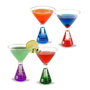 Erlenmeyer Flask Martini 4 glass Set