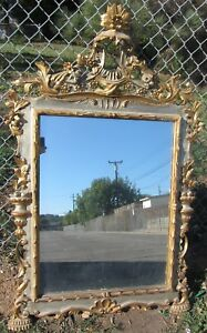 Rare Antique Very Fine Carved Italian Massive Mirror Vintage