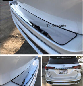 Rear Bumper Scuff Plate Tail Gate Cover Trim For All New Toyota Fortuner 2015 On