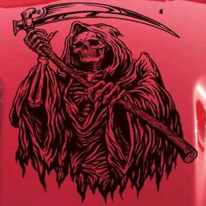 Reaper Hood Dodge Chevy Ford Car Vehicle Sticker Jeep Truck Vinyl Decal Graphic