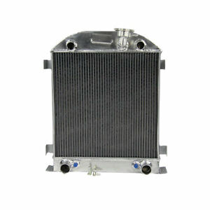 4 Row Core Aluminum Radiator For Ford 28 29 Model A Flathead Engine 1928 1929