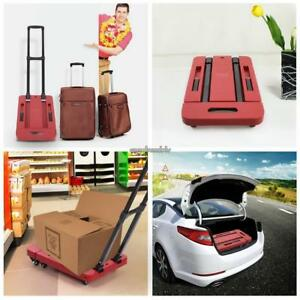 Cart Dolly Folding Foldable Luggage Push Hand Truck Moving Warehouse Platform