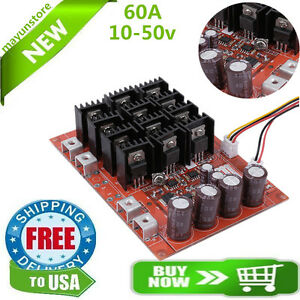 10 50v 60a High power Motor Speed Control Pwm Hho Rc Driver Controller Module Tb