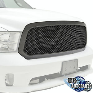 2013 2018 Dodge Ram 1500 Abs Mesh Replacement Grille Black Carbon Fiber Look