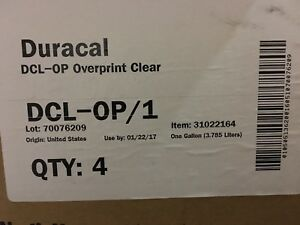 Fujifilm Duracal Uv Screen Print Ink Overprint Clear 1 gallon