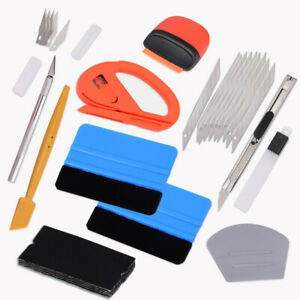 Eco Car Film Vinyl Wrap Application Tool Kit Felt Squeegee Istallation Usa