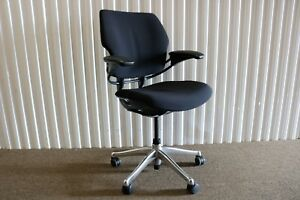 Humanscale Ergonomic Freedom Task Chair In Black Fabric Fully Adjustable