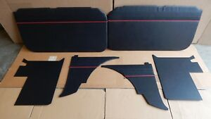 New 6 Piece Interior Panel Set With Door Panels Mgb 1962 1965 Black Red Made Uk