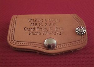 Vintage Original Gm Oldsmobile Dealer Promo Case Auto Key Holder Wilcox Malm Nd