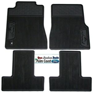 2005 2009 Ford Mustang All Weather Black Floor Mats 6r3z 6313300 A