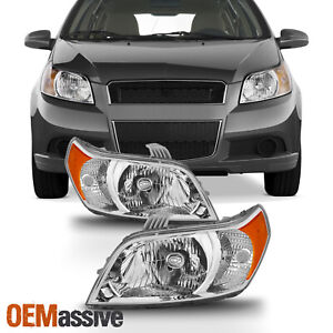 Fits 2009 2010 2011 Chevy Aveo5 Aveo 5 Headlights Headlamps Left Right