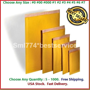 Kraft Bubble Mailers Shipping Mailing Padded Bags Envelopes Self seal any Size