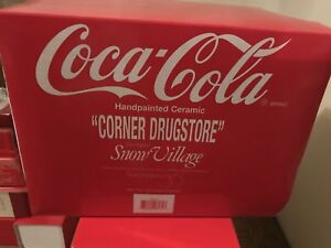 Dept 56 Snow Village Coca-Cola Corner Drugstore