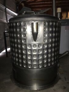 Stainless Steel Tank 100 Gallon Steam Jacketed