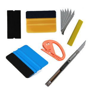 Car Vinyl Wrapping Tools Felt Squeegee Application Window Tint Kit Install Us