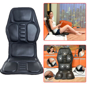 Universal Car Seat Back Massage Home Office Massager Heat Vibrate Chair Cushion