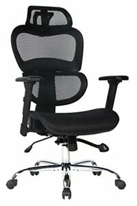 Viva Office High Back Mesh Executive Chair With Adjustable Headrest And Armrest