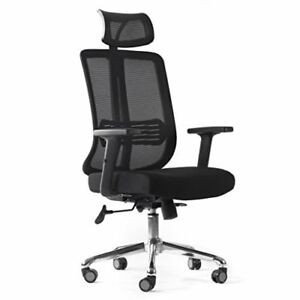 Cctro Mesh Ergonomic Office Chair With Adjustable Headrest And Padded Flexibl