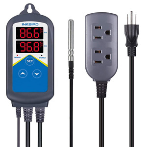 Inkbird Temperature Controller Digital Heater Thermostat Itc 306t Dual Output
