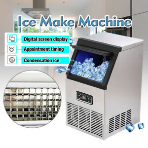 Us 110lb Built in Commercial Ice Maker Undercounter Freestand Auto Ice Machine