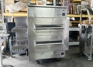 Middleby Marshall Ps360q Doublestack Gas Conveyor Pizza Ovens