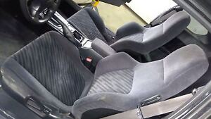 92 96 Honda Prelude Bb1 Bb4 Complete Seat Set Front Rear Black Type A Cloth