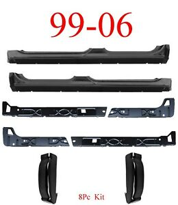 99 06 8pc Extended Crew Cab Rockers Inners Cab Corners Chevy Gmc Truck