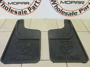 Dodge Ram Rear Heavy Duty Rubber Mud Flaps W o Fender Flares New Oem Mopar