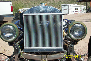 Fit Ford Model A Chopped W Chevy Engine 1928 1931 1929 Aluminum Radiator Custom