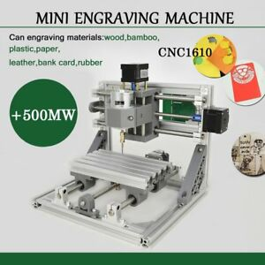 Mini Cnc 1610 500mw Laser Cnc Engraving Machine Pcb Milling Wood Router To