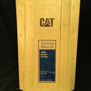 Caterpillar 14m Motor Grader Maintainer Service Manual Renr9032 01