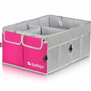 Car Trunk Organizer Foldable Multi Compartment Storage Basket Auto Accessories