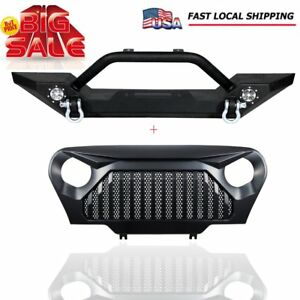 Front Bumper Guard D Ring Gladiator Front Grille For Jeep Wrangler Tj 1997 2006