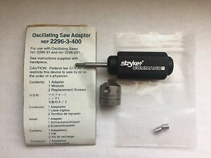 Stryker Command 2 Oscillating Saw Adaptor Ref 2296 3 400 Orthopedic