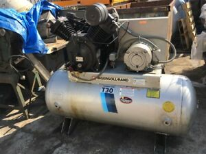 Ingersoll rand T30 120gal Horizontal Air Compressor 10hp Motor Two Stage