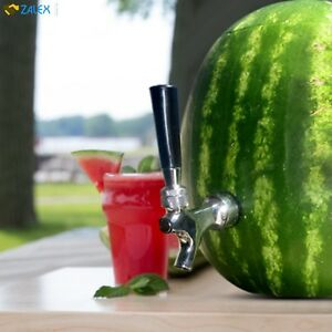 Watermelon Tap Brass Chrome Kit For Summer Drink Picnic Party Barbeque Steel New