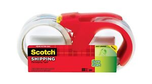 Scotch Shipping Tape 2 pack With Dispenser 1 7 8 X 38 2 Yd Clear