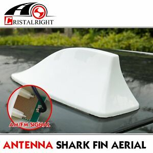White Shark Fin Antenna Roof Radio Am Fm Aerial Mast For 2009 2015 Toyota Venza