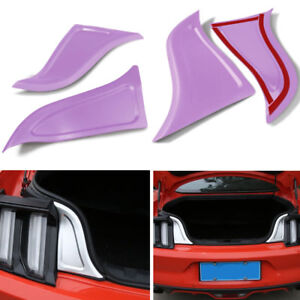 2pcs Billet Aluminum Rear Trunk Plate Trim Panel Accessories For Ford Mustang