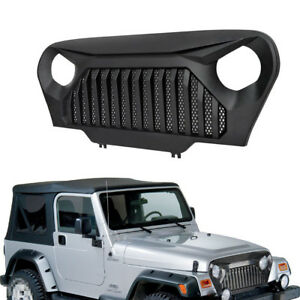 Front Grill Bumper Grille Guard Mesh Insert Hood For Jeep Wrangler Tj Unlimited