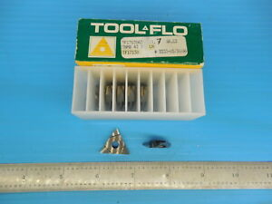 7 Pcs New Tool Flo Tf17130 Tnmb 43 Lh Carbide Grooving Inserts Machine Shop Tool