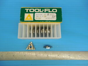 8 Pcs New Tool Flo Tf17130 Tnmb 43 70 Lh Carbide Grooving Inserts Machine Shop