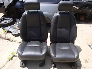2007 escalade esv black leather seats front row buckets interior heated cooled