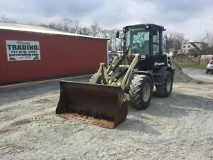 2005 Ingersoll rand Wl350 4x4 Compact Wheel Loader W cab Bucket And Forks